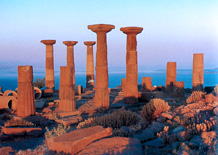 Breathtaking ruins on the beach at Assos