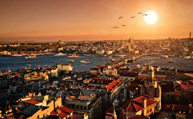 Beyoglu at sunset