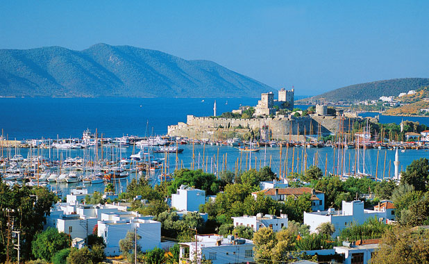 The historic and vibrant marina town of Bodrum, the ancient Halikarnassus and birthplace of Herodotus
