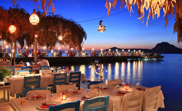 Sample fantastic Aegean cuisine in one of the local waterfront seafood restaurants