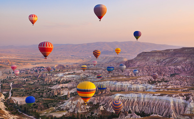Hot Air Balloon ride over the indescribable vistas of Cappadocia