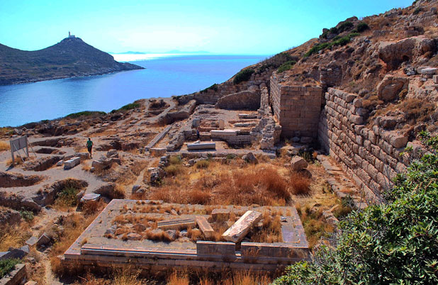 The beautiful coastal site of the ancient city of Knidos