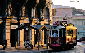 The heritage tram in Beyoglu, Taksim