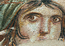 The Gypsy Girl mosaic of Zeugma now at the Gaziantep Museum of Archaeology