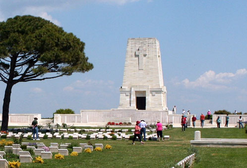 Lone Pine Cemetery for ANZAC casualties at Gallipoli